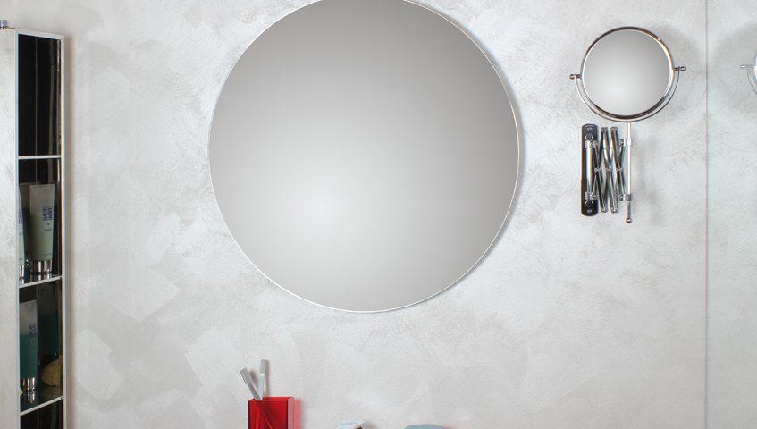 Specchi da bagno rotondi con molatura a filo lucido koh i noor
