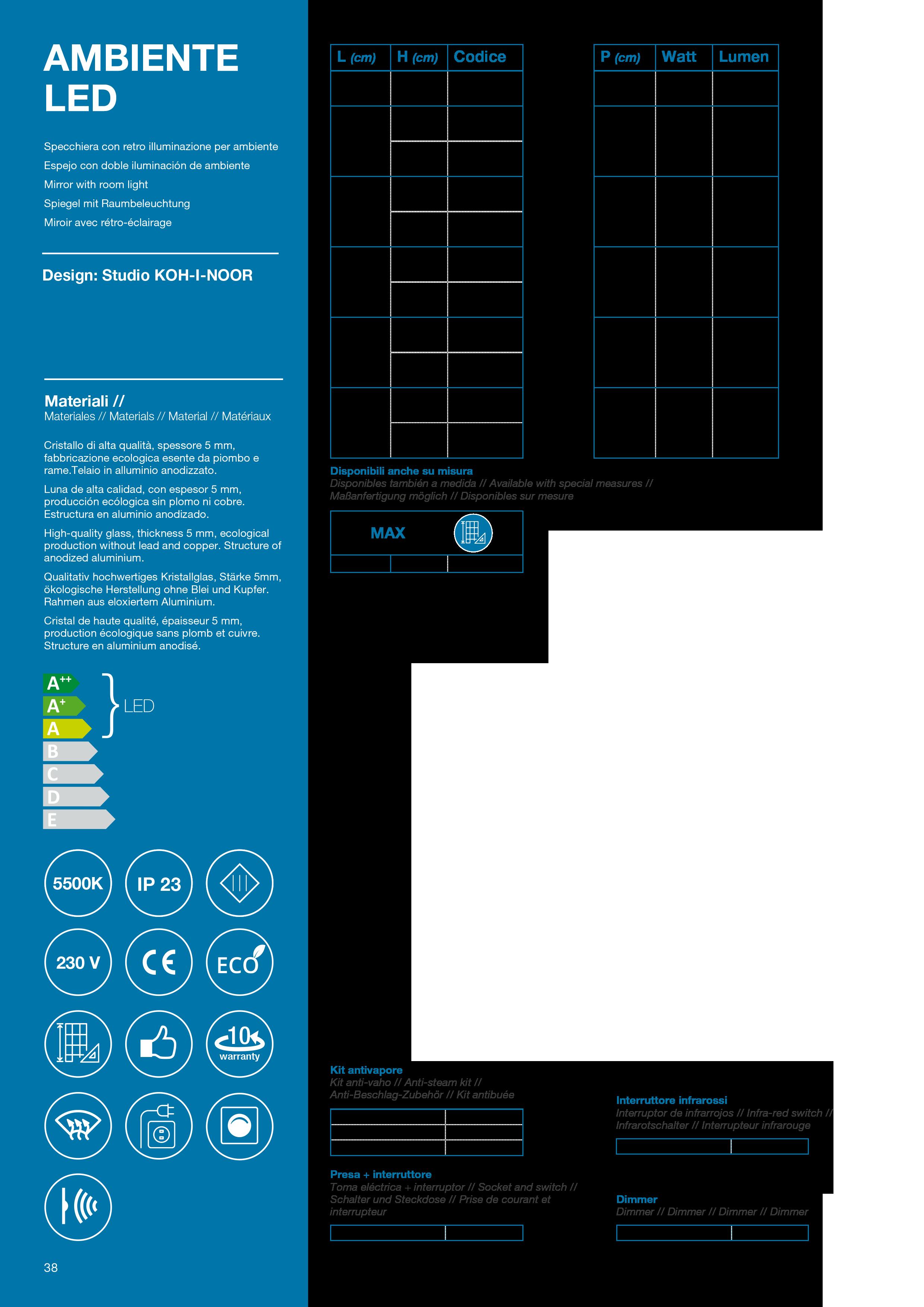 tabella-ambiente-led