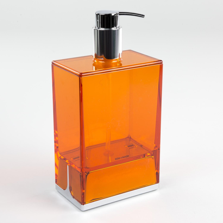 dispenser-sapone-da-appoggio-lem-arancio-trasparente