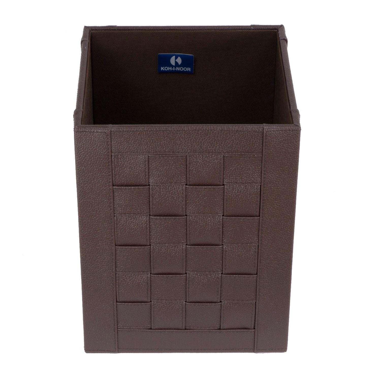 gettacarta-quadrato-intrecci-colore-marrone-scuro