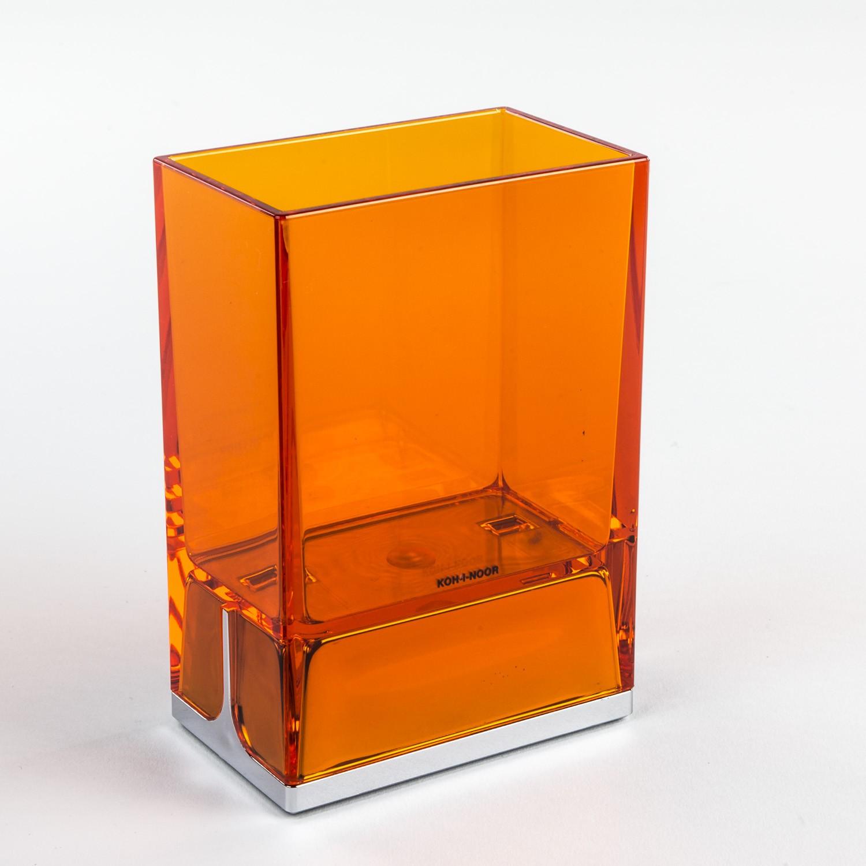 bicchieri-porta-spazzolini-da-denti-da-appoggio-lem-arancio-trasparente